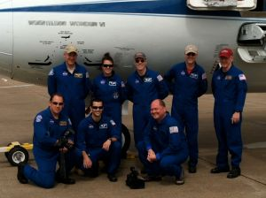 Our flight crew provided a great environment for simulating TAGSAM sample collection in reduced gravity.