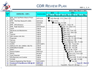 "The ""CDR Waterfall"" showing all of the subsystem EPRs and CDRs leading up to this review."