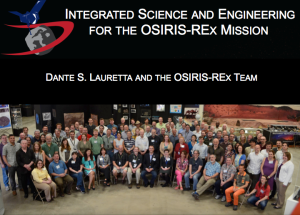 It was a great honor to represent the entire OSIRIS-REx team at ACM this year.