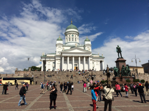 The Helsinki Cathedral is an iconic landmark of the city.