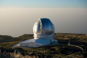 The Gran Telescopio Canarias formally opened its shutters on July 24, 2009, inaugurated by King Juan Carlos I of Spain.