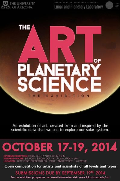 The Art of Planetary Science is an annual event to celebrate the intersection of art and science in Tucson.