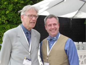 Harold Connolly (right) and Professor Hewins (left) after the presentation of the Leonard Medal in Casablanca.