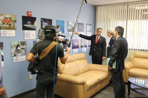 A film crew from NHK TV documented the JAXA visit to UA on October 3, 2014.