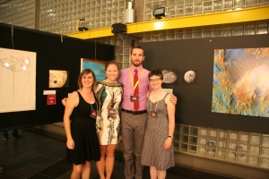 LPL graduate students Jamie Molaro, Sarah Peacock, James Keane, and Hannah Tanquary organized the 2014 exhibition.