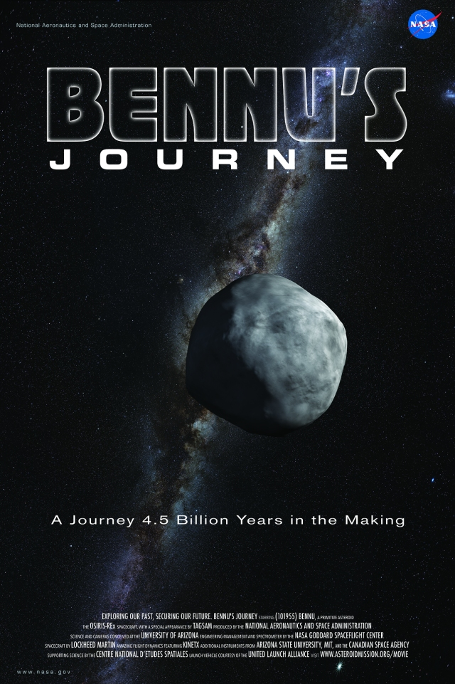 Bennu's Journey is a 6-minute animated movie about NASA's OSIRIS-REx mission, asteroid Bennu, and the formation of our solar system.