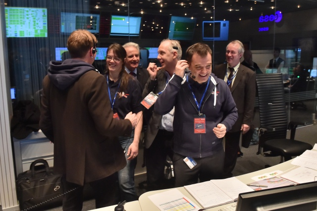 The OSIRIS-REx team cheered on our European colleagues during the Philae landing sequence.