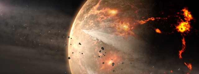 Migration of Jupiter may have sent thousands of asteroids on collision courses with the planets of the inner solar system.