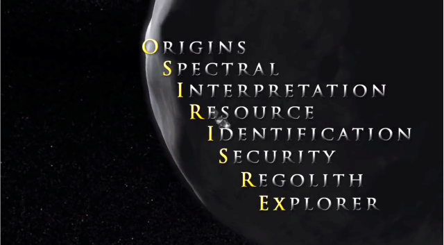 OSIRIS-REx is an acronym that captures the major scientific objectives of the mission.
