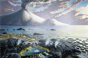 Life appears to have originated on Earth shortly after the end of the late-heavy bombardment.