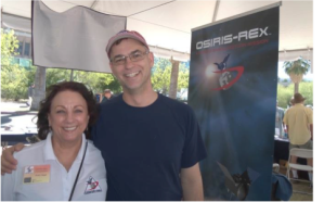 New OSIRIS-REx Ambassador Pat Vega gets to meet OSIRIS-REx PI, Dante Lauretta during the Tucson Festival of Books.