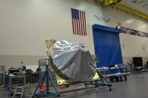 The OSIRIS-REx high-gain antenna is on dock at Lockheed Martin and awaiting integration onto the spacecraft.