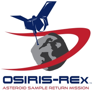 The official logo of the OSIRIS-REx asteroid sample return mission.