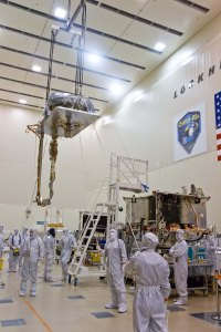 The SARA panel on its way to integration with the spacecraft.